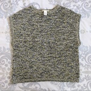BRAND NEW! Olive & Grey Sleeveless Knitted Sweater